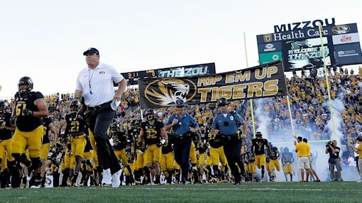 Mizzou O-Linemen bought a fish to appear on stadium video board at halftime