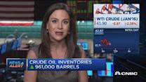 Crude inventories rise more than expected