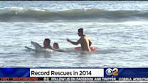 Weather-Fueled Beach Crowds Keep Lifeguards Busy