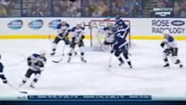 Brett Connolly deflects one past Halak