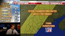 4PM Severe Thunderstorm Watch Update