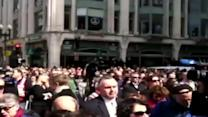 Video: Moment of silence held for marathon bombing victims