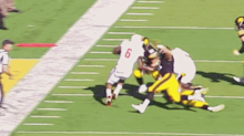 This ref missed an Iowa player spearing Wisconsin's RB right in the face