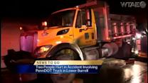 2 hurt in crash with PennDOT truck