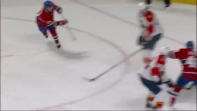 Plekanec sets up Gionta with wrap around pass