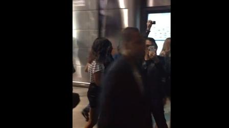 Jay-Z and Entourage Surprise Fans Entering Concert
