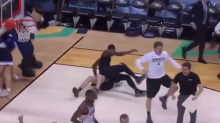 Xavier celebrated its upset of Arizona with a WWE-style takedown (Video)