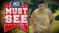 Notre Dame F Zach Auguste's Alley-Oop Jam   ACC Must See Moment