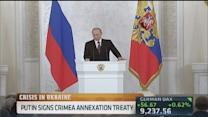 No intention of splitting Ukraine: Putin