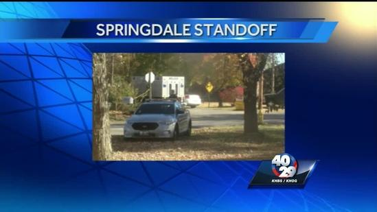 Standoff begins after meth-related arrest