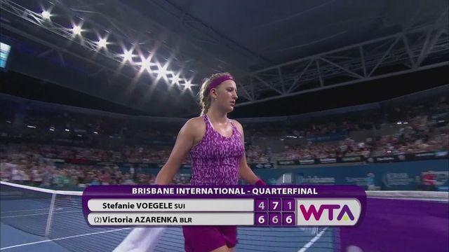 Azarenka through to Brisbane International semi-final