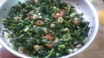 Jamaican Callaloo With Shrimp