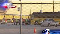Carnival Triumph passengers arrive in Galveston on buses
