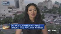 China freezes Citadel account amid probe