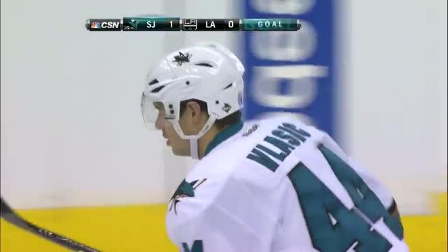 Marc-Edouard Vlasic scores 13 seconds in