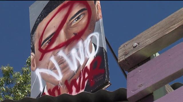 Community Responds to Defaced Obama Art