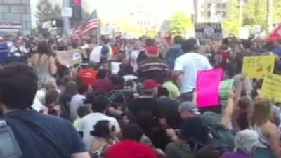 Occupy Boston Protesters Block Boston Streets