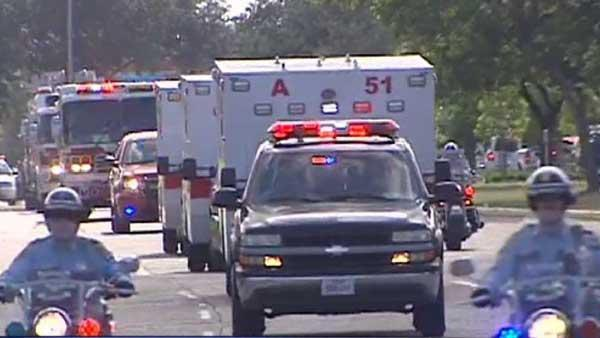 Procession held in honor of fallen HFD firefighters