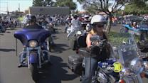 Bikers hold memorial ride to remember two Visalia men