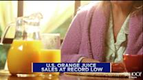 Orange juice sales at record low