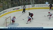 Mark Letestu tucks it top corner past Holtby
