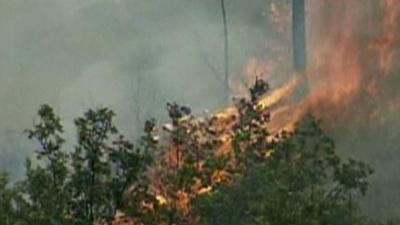 Two Huge Fires Burning in Northern California