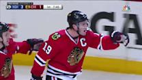 Toews redirects power-play goal past Rinne
