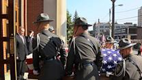 Raw: Hundreds Pay Tribute to Slain PA Trooper