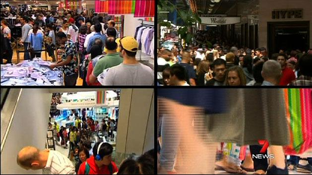 Sydney shoppers hit Boxing Day sales