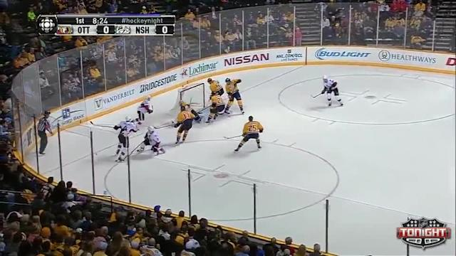 Ottawa Senators at Nashville Predators - 01/11/2014