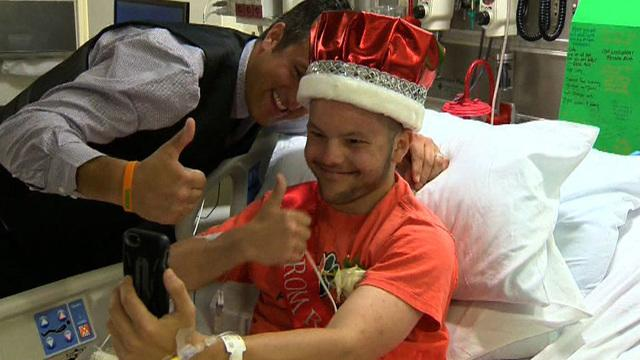 California teen crowned prom king from hospital bed