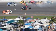 Kyle Busch wrecks out of Daytona, rips Goodyear tires