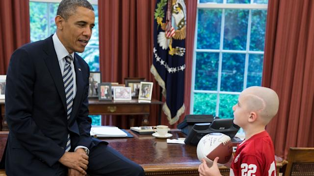 7-year-old Nebraska Football Star Meets President Obama