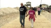 The boardwalk reopens in Lavallette, N.J.