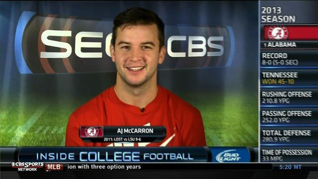 Inside College Football: AJ McCarron (Part 2)