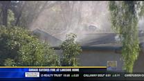 Garage catches fire at Lakeside home