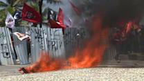 Oil workers, police clash as Brazil auctions oil licenses