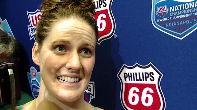 Missy Franklin On Beating Her Best Time In 100 Meter
