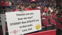 Father Who Shamed Son With Signs at NBA Games Defends the Stunt