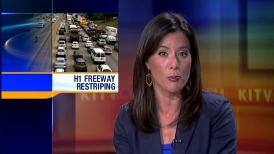 H-1 restriping project hopes to alleviate traffic