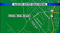 Auburn water main break leaves dozens without water