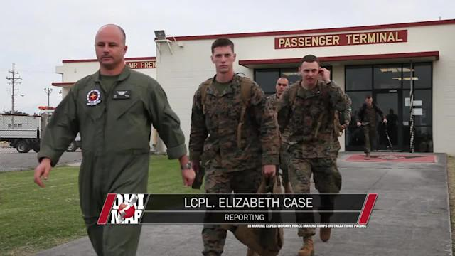 Marines deploy to assist with typhoon recovery