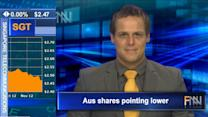 Aust Share Market Outlook - 15/11/12, 09:15am EST