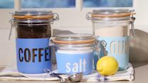 DIY Painted-Glass Storage Jars