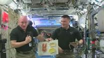 Astronauts celebrate early Thanksgiving with freeze dried turkey