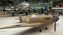 Life-Size Fighter Plane Made From Egg Cartons
