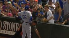 Yasiel Puig's persistance pays off as young fan finally gets souvenir