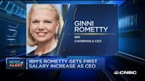 IBM's Rometty gets first salary bump as CEO