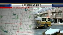 Woman, infant hospitalized in apartment blaze