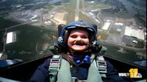 Raw video: Ava's flight with the Blue Angels